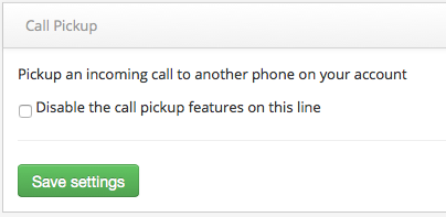 Disable Call Pickup